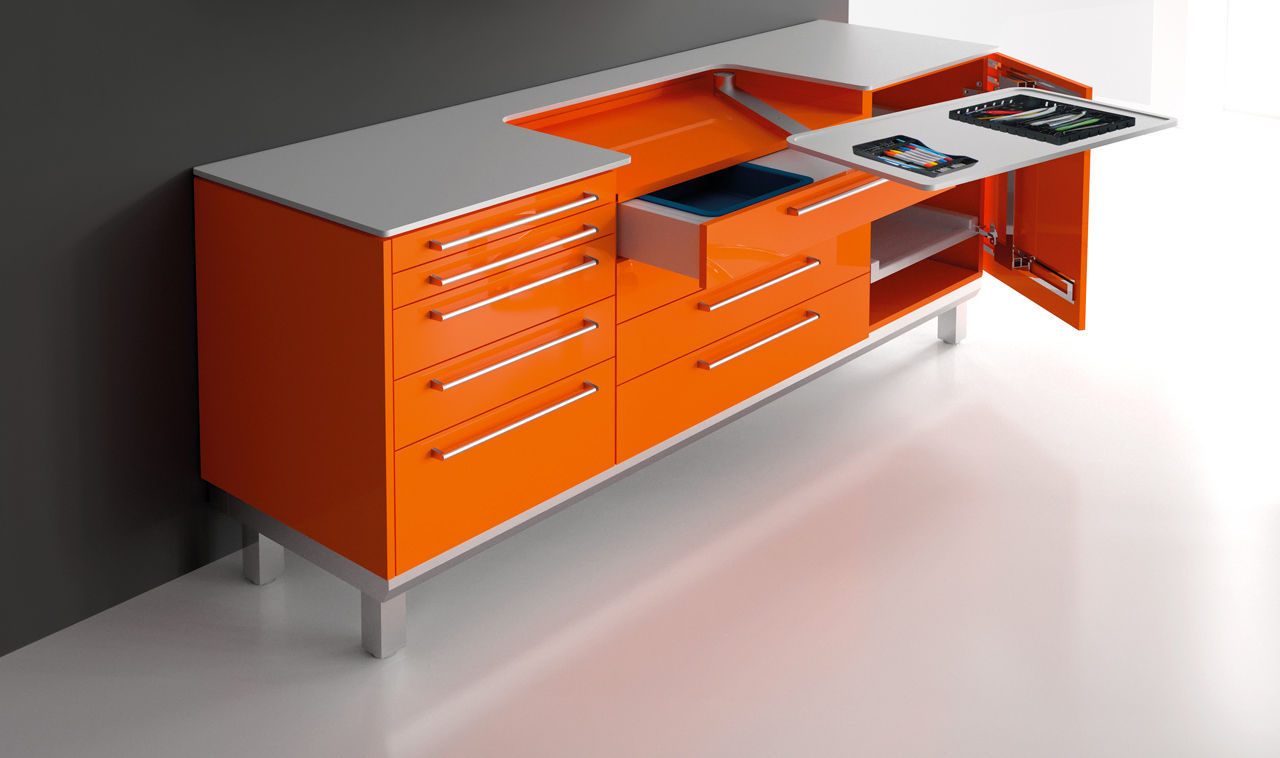 Assez Plan de travail avec tiroir / avec espace de rangement - S_tray  YV06