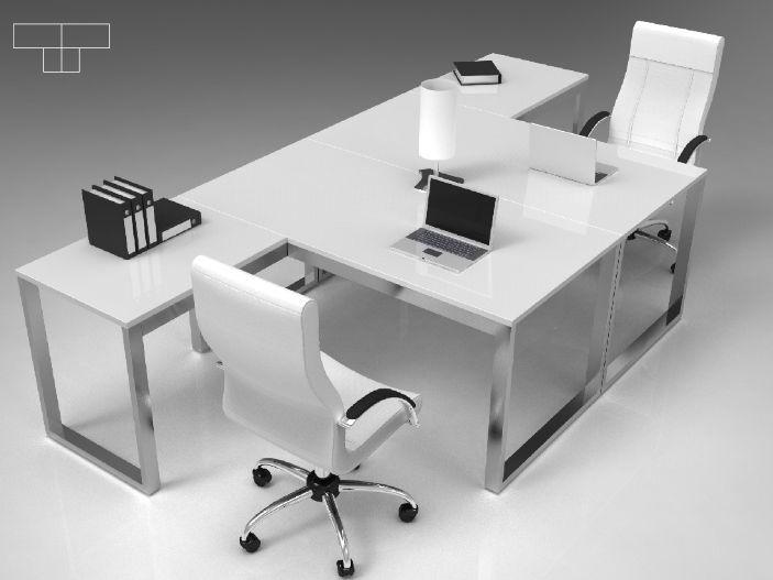 Table de bureau en forme de t u series industrial laborum