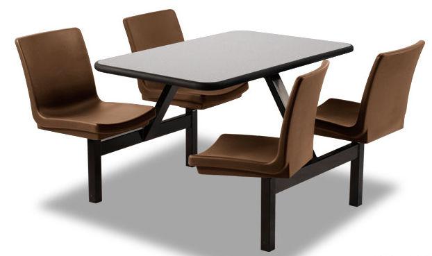 table manger rectangulaire fixe avec chaise intgre