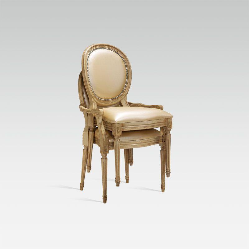 Chaise de salle à manger / avec accoudoirs - Louis XVI Medaillon ...