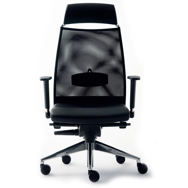 Chaise De Bureau Avec Dossier Haut Sur Roulettes Accoudoirs