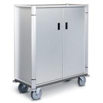 Chariot de distribution de plateaux / de transport / 2 portes / en acier inoxydable