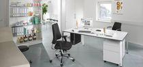 Table de bureau / pour salle de réunion / rectangulaire / à hauteur variable