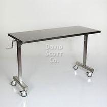 Table à instruments sur roulettes / à hauteur variable / en acier inoxydable