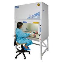 Poste de sécurité microbiologique classe I / sur pied / avec vitre frontale verticale coulissante