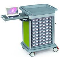 Chariot de distribution de médicaments / de médicaments / avec tiroir