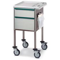 Chariot multifonction / avec tiroir / avec support sac poubelle / en acier inoxydable