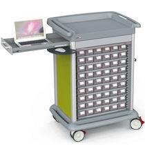 Chariot de distribution de médicaments / de médicaments / avec tiroir / 45 à 54 bacs