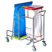 Chariot de ménage / à linge / poubelle / avec support sac poubelle