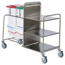 Chariot de transport / à linge sale / à linge propre / avec étagère