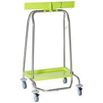 Chariot de ménage / poubelle / avec support sac poubelle / 1 sac