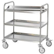 Chariot de service / pour salles d'opération / pour instruments / avec étagère