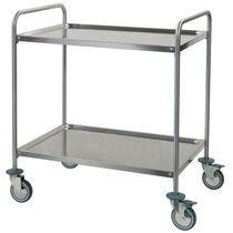 Chariot multifonction / pour salles d'opération / pour instruments / avec étagère
