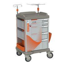 Chariot d'urgence / de stockage / de transport / avec planche de massage cardiaque