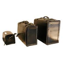 Mallette pour instruments / à compartiments / en cuir