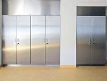 Armoire de stockage / de laboratoire / avec porte / en acier inoxydable
