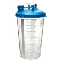 Bocal pour aspirateur médical / en polycarbonate / à usage unique