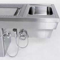 Table d'autopsie / de dissection / de lavage mortuaire / d'anatomie