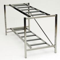 Rayonnage modulaire / de stockage mortuaire / à structure ouverte / en inox