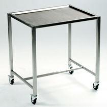 Table à instruments avec étagères / sur roulettes / en acier inoxydable