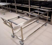 Chariot mortuaire / de transport / avec étagère / en acier inoxydable