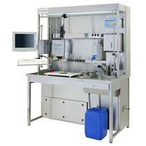 Station de travail de laboratoire d'histopathologie / pour préparation d'échantillon / avec évier / avec filtre HEPA