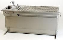 Table de macroscopie / de laboratoire / rectangulaire / à hauteur variable