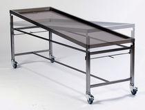 Table d'autopsie / de dissection / de lavage mortuaire / rectangulaire