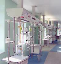 Système de distribution poutre de distribution / plafonnier / avec nacelle