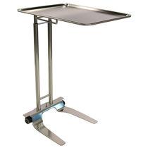 Table de Mayo sur roulettes / à hauteur variable / en acier inoxydable
