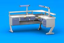 Poste de travail pour laboratoires dentaires double