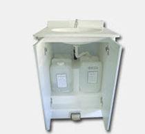 Armoire de rangement / pour cabinet médical / avec évier / sur roulettes
