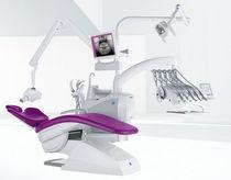 Unité de soin dentaire avec porte-instrument / avec éclairage / avec moniteur
