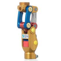 Prothèse externe de genou à absorption de chocs / polycentrique / à contrôle de phase d'appui / à verrou manuel