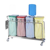Chariot de transport / à linge / poubelle / 4 sacs