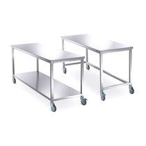 Table de travail / rectangulaire / sur roulettes