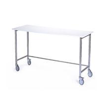 Table de travail / rectangulaire / sur roulettes / pliante