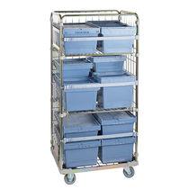 Chariot de transport / pour instruments / avec étagère / avec panier