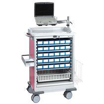 Chariot de distribution de médicaments / avec étagère