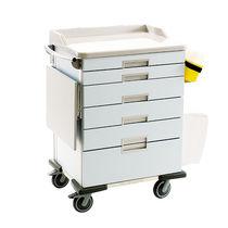 Chariot d'anesthésie / de soins intensifs / de transport / pour instruments