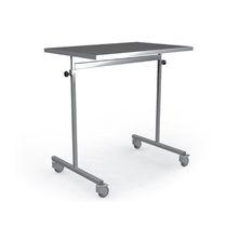Table de travail / rectangulaire / sur roulettes / en acier inoxydable