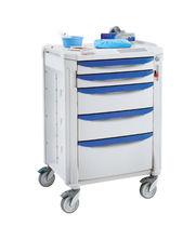 Chariot d'anesthésie / pour consommables / avec tiroir / avec portique
