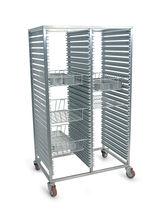 Chariot de transport / pour panier de stérilisation / avec étagère / à structure ouverte