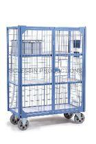 Chariot de transport / avec étagère / 2 portes / sécurisé