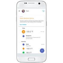 Application iOS de monitorage / médicale / pour smartphone