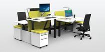 Bureau modulaire / à hauteur variable / avec tiroir / électrique