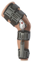 (immobilisation orthopédique) attelle de genou / articulée