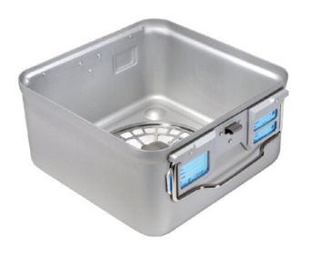 container de stérilisation pour instruments / avec filtre / avec soupape / en aluminium