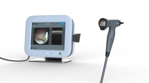 otoscope vidéo / avec moniteur vidéo intégré / avec imagerie OCT / pédiatrique