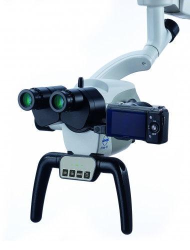 Microscope opératoire / microscope de chirurgie ORL / sur roulettes ATMOS® i View PRO ATMOS MedizinTechnik